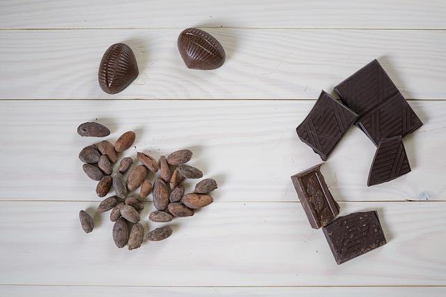 шоколад и какао бобы