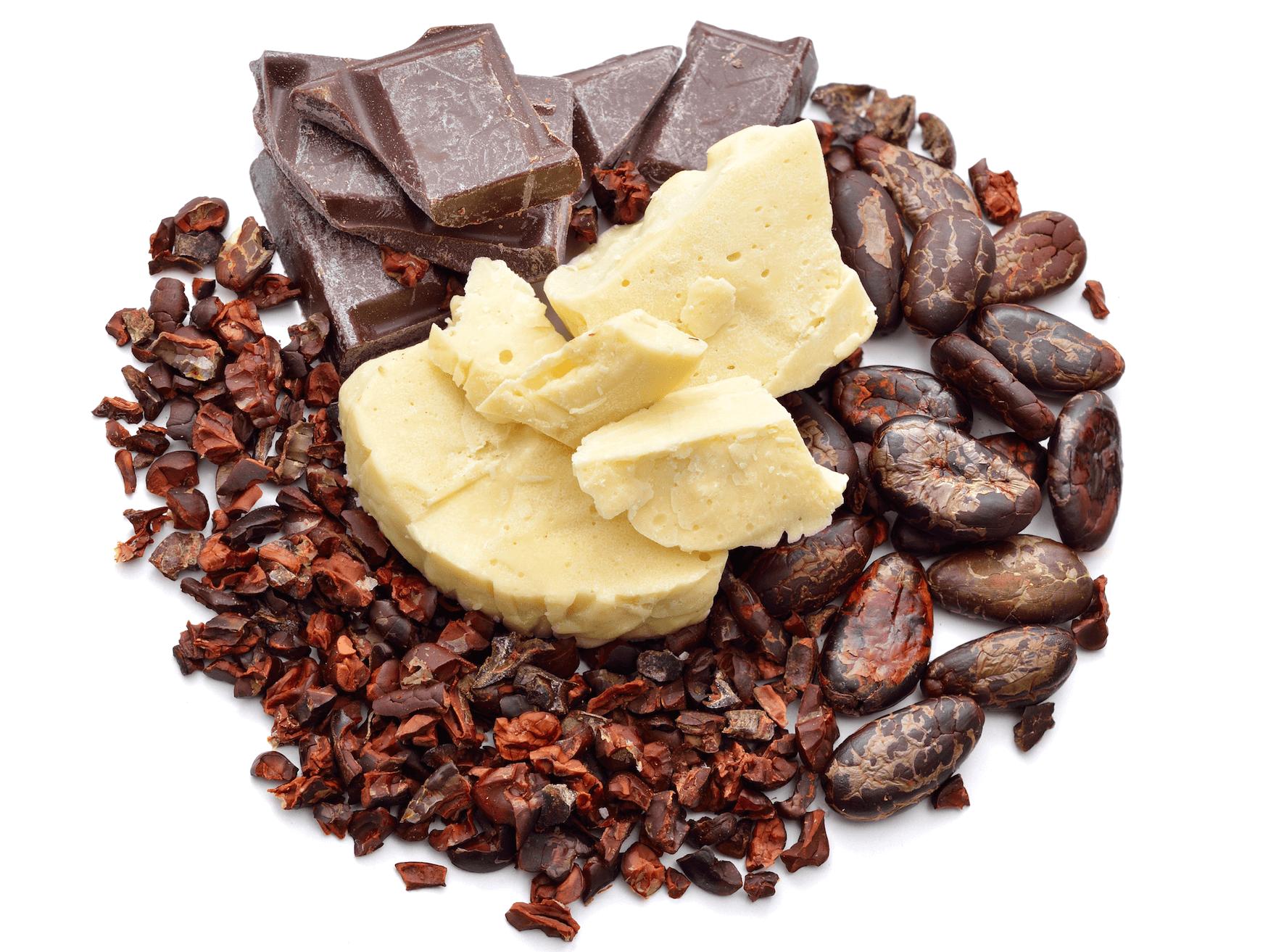 какао бобы и масло