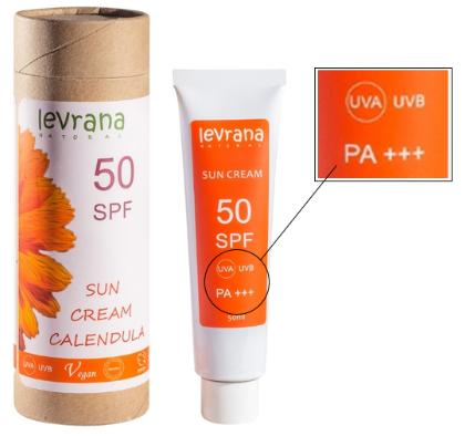 Крем для загара levrana 50SPF