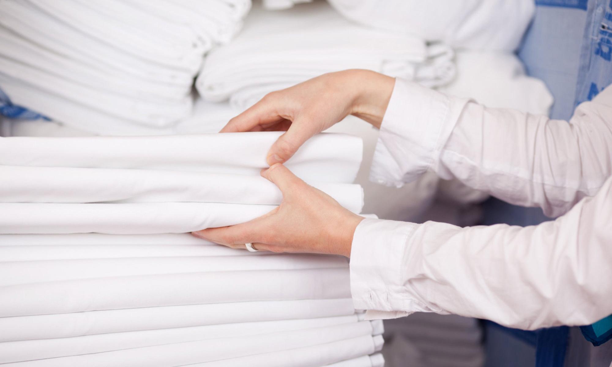 постиранное белое белье